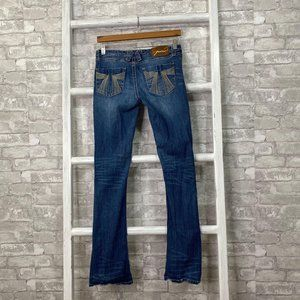 Seven7 Low Rise Boot Cut Jeans Size 27